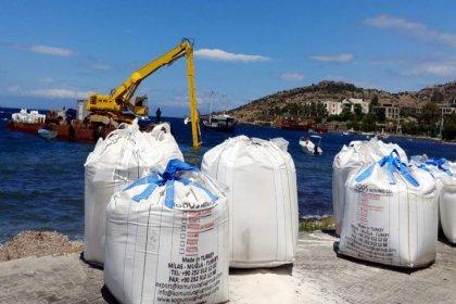 Bodrum'da bir şirket denize mermer tozu döktü, 400 TL'lik ceza kesildi