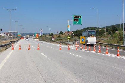 Bolu Dağı tüneli İstanbul - Ankara yönü 14 Kasım'a kadar kapalı