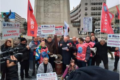 Büro İş Sendikası'ndan Başkentgaz ve Kızılay protestosu