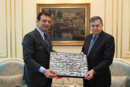 Büyükelçi David Satterfield'den İmamoğlu'na ziyaret