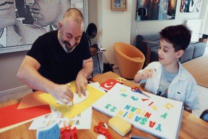 Cem Yılmaz, oğlu Kemal ile reklam filminde rol aldı