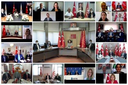 CHP, 13 siyasi partiyle video konferans yoluyla bayramlaştı