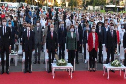 CHP Lideri Kemal Kılıçdaroğlu ve İYİ Parti Lideri Meral Akşener Kocaeli'de açılış törenlerine katıldılar