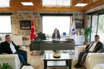 CHP ve AKP Bodrum ilçe başkanlarından Ahmet Aras'a ziyaret