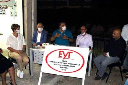 """CHP'li Sındır İzmir'de EYT'lilerle buluştu; """"gasp edilen haklarınızı birlikte alacağız"""""""