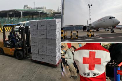 Çin, İtalya'ya 26 bin ton tıbbi malzeme gönderdi