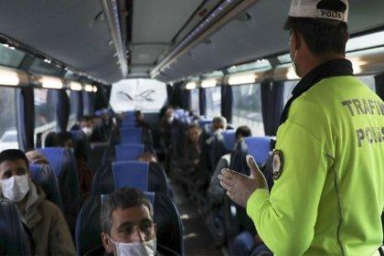 Covid-19 temaslı yolcu taşıyan otobüs seferden men edildi