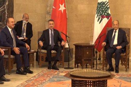 Cumhurbaşkanı Yardımcısı Fuat Oktay, Lübnan Cumhurbaşkanı Avn ile görüştü