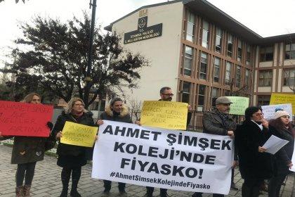 Doğa Koleji'nin ardından Kartal Ahmet Şimşek Koleji velileri de eylemde: 14 aydır çalışanlara maaş ödenmiyor