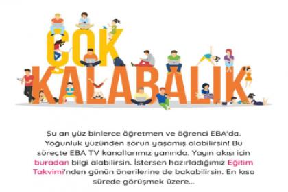 EBA çöktü: Ekranda 'Çok kalabalık' uyarısı