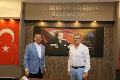 Ekrem İmamoğlu'ndan Edremit Belediyesine ziyaret