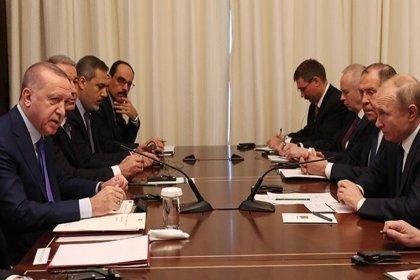 Erdoğan ile Putin bir araya geldi: 'Ateşkes anlaşmasını imzaladık'