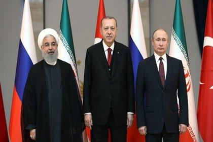 Erdoğan, Putin ve Ruhani'den 14 maddelik ortak bildiri
