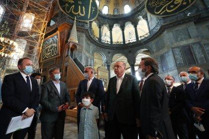 Erdoğan'dan 24 Temmuz öncesi Ayasofya ziyareti