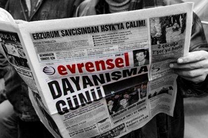 Evrensel'e 45 gün ilan kesme cezası!