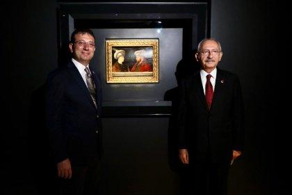 Fatih'in tablosunun ilk ziyaretçisi Kılıçdaroğlu