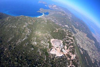 Fethiye'de teleferik projesi için 69 bin metrekare orman tahrip edilecek