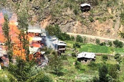 Fındıklı Belediyesi'nden 30 evin yandığı köy için yardım çağrısı