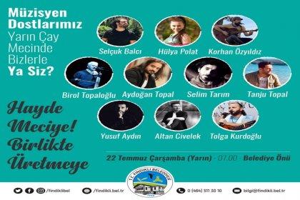 Fındıklı Belediyesinin 2. Sürgün Çay Mecine Müzisyenlerden destek