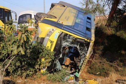 Gaziantep'te yolcu minibüsü devrildi: 14 yaralı