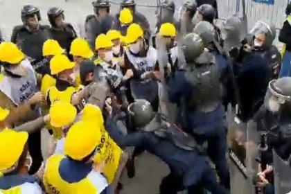 Haklarını arayan maden işçilerine jandarma saldırısı