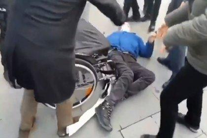 HDP'lilere polis müdahalesi: Musa Piroğlu, tekerlekli sandalyesinden yere düşürüldü