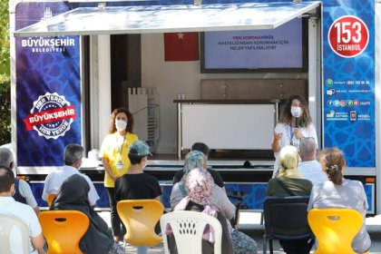 İBB İstanbul'un her köşesinde Covid-19 eğitimi veriyor