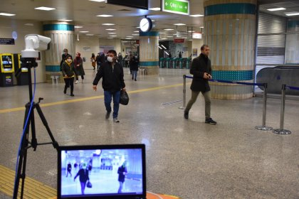 İBB, metro istasyonlarında termal kamera uygulamasına geçti