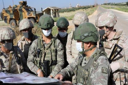 İdlib'de 12. Türk-Rus birleşik kara devriyesi icra edildi
