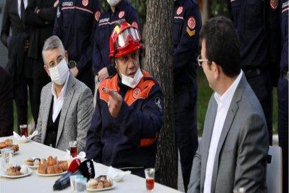İmamoğlu, İzmir depreminde görev alan itfaiyecileri ziyaret etti