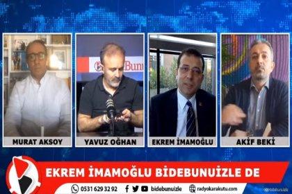 İmamoğlu:Fatih Portakal beni de çok eleştiriyor