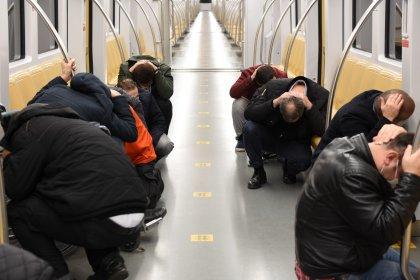 İstanbul metrosunun 14 hattı ile 173 istasyonunda deprem tatbikatı yapıldı