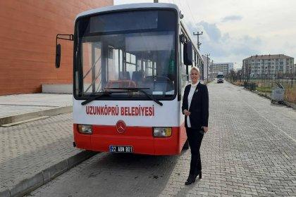 İzmir Büyükşehir Belediyesi, Uzunköprü Belediyesi'ne otobüs hibe etti