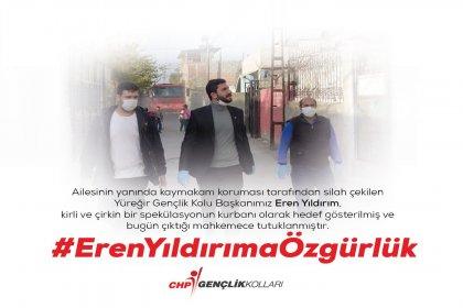 Kaymakam koruması tarafından silahla tehdit edilen ve hedef gösterilen CHP Yüreğir Gençlik Kolu Başkanı Eren Yıldırım tutuklandı