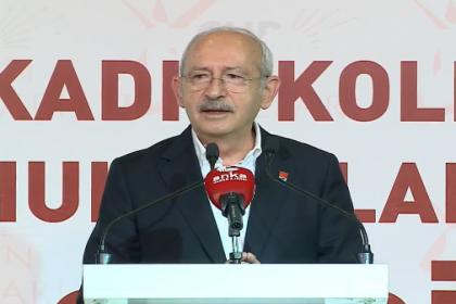 Kılıçdaroğlu: Güçlü demokrasiyi inşa edecek olan kadınlardır