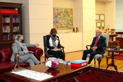 Kılıçdaroğlu, İrlanda'nın Türkiye Büyükelçisi McGuinness ile görüştü