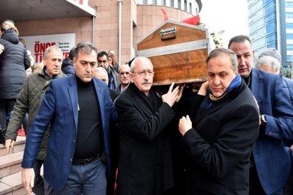 Kılıçdaroğlu, Taner Coşkun'un cenaze törene katıldı