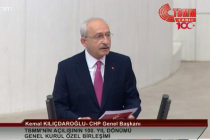 Kılıçdaroğlu'ndan TBMM'deki 23 Nisan özel oturumunda 16 maddelik çağrı