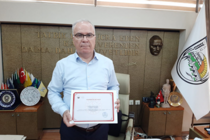 Kırklareli Valisi'nden Babaeski Belediye Başkanı Abdullah Hacı'ya teşekkür belgesi