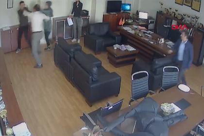 Kızı ile tartışan erkek öğrenciyi okul müdürünün odasında yumrukladı