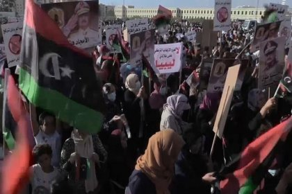 Libya'da düzenlenen gösteride Türkiye protesto edildi