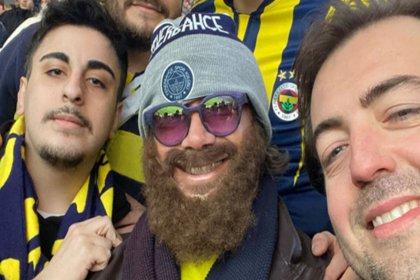Lugano kılık değiştirdi, Fenerbahçe-Galatasaray derbisini taraftarlarla izledi