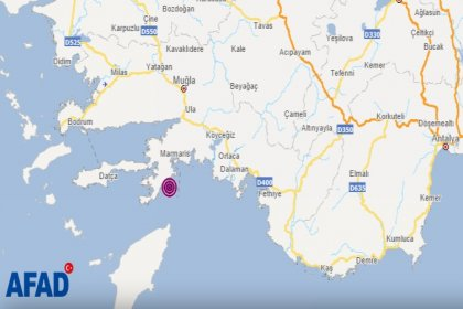 Marmaris'te 5.2 şiddetinde deprem oldu
