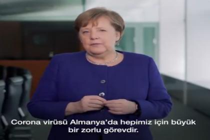 Merkel'den Türkçe altyazılı koronavirüs videosu