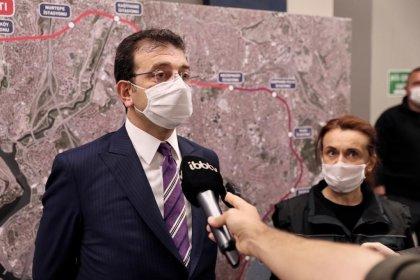 Metro hattında incelemelerde bulunan İmamoğlu'ndan açıklama