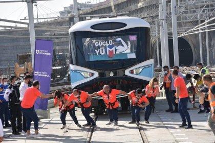 Metro İstanbul, tren çekme yarışması düzenledi