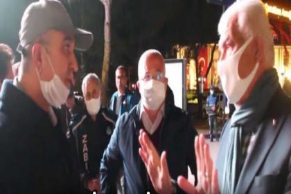 Muğla'da polis, Başkan Gürün'ün İstiklal Marşı okumasına engel olmaya çalıştı