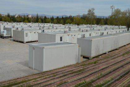 Pandemi hastanesindeki görevli sağlık çalışanları için konteyner kent tahsis edildi