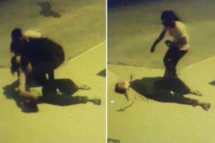 Sokakta tartıştığı eşine kafa attı