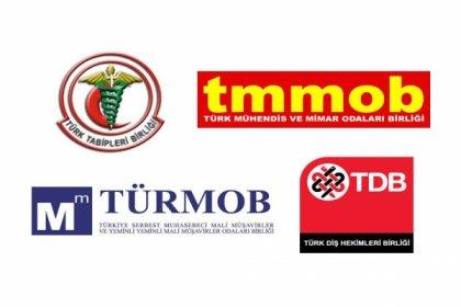 TMMOB, TTB, TÜRMOB ve TDB'den TBMM'ye 'Covid-19' çağrısı
